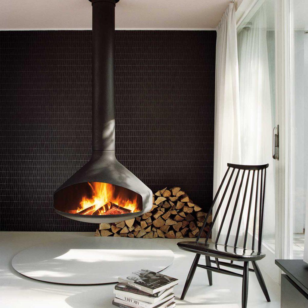 Ergofocus fireplace by Focus Fires