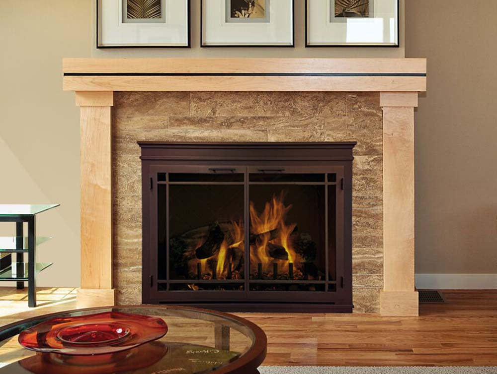 """Mantel"" Glass Fireplace Doors - by Design Specialties"