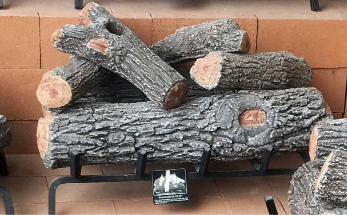 Cement Logs for Fireplace